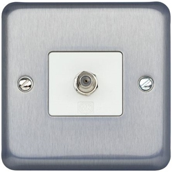 MK K3585BRC Single 'F' Type Flush Satellite TV Outlet