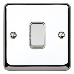 MK K4671PCR 1gang 10amp 2way SP Light Switch Polished Chrome Plate