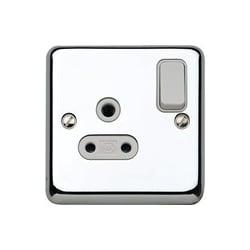 MK K2881PCR 1 Gang 5 Amp DP Switch Socket Polished Chrome