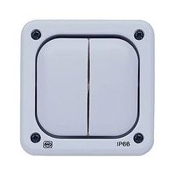 MK K55406GRY Echo Masterseal Plus 2gang 2 Channel Switch Transmitter