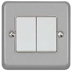 MK K3787ALM Echo Metalclad Plus 2gang 2 Channel Switch Transmitter