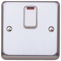 MK K5233BSS 20a DP Switch with Neon Brushed Stainless Steel