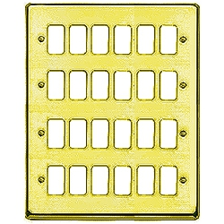 MK K3454SAB 24 Gang Satin Anodised Brass Albany Plus Grid Front Plate