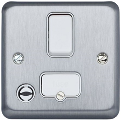 MK K931MCO 13a DP Switch Spur with Flex Outlet Matt Chrome