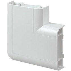 MK VP195WHI Prestige 3D Skirting Flat 90 degree Angle UP Bend White