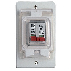 MK VP35WHI Prestige 3D 2 Module Housing with Cover for MCB's or RCD's