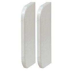 MK VP193WHI Prestige 3D Skirting End Caps sold as Left and Right pair