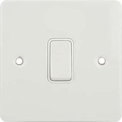 schneider gu2210wpw 20a dp switch white insert painted white