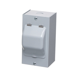 ECL MEC2M 2 Way Metal Enclosure with Metal Hinged Cover