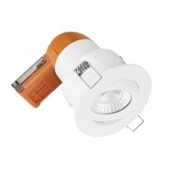 Enlite EN-DE62PROW/30 LED Dimmable 6w IP20 Fire Rated Tilt Downlight 3k White Bezel