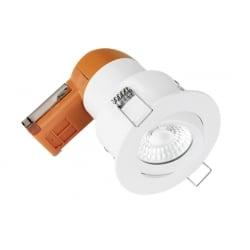 Enlite EN-DE62PROMW/40 LED Dimmable 6w IP20 Fire Rated Tilt Downlight 4k Matt White Bezel