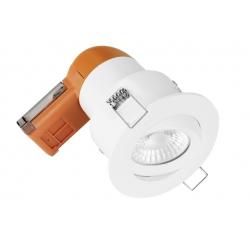 Enlite EN-DE62PROW/40 LED Dimmable 6w IP20 Fire Rated Tilt Downlight 4k White Bezel