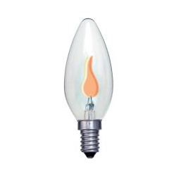 Bell 00442 SES Flicker flame 27K Resistor Neon Candle Lamp