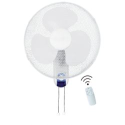 """CED WL16RT 16"""" 3 Speed Wall Fan with remote control"""