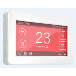ThermoSphere DC-W-01 Dual Control White 20a Thermostat