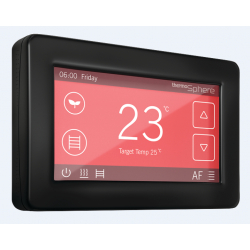 ThermoSphere DC-B-01 Dual Control Black 20a Thermostat