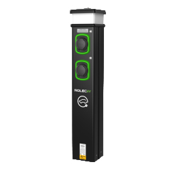 Rolec EVCL2016 2x7.2kw 32a Type 2 Socket Floor Mounted EV Charger