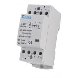 ECL EUC3-63-4P 63 Amp 4 Normally Open Pole 230v 3 Module Contactor