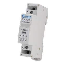 ECL EUC1-20-2P 20 Amp 2 Normally Open Pole 230v 1 Module Contactor