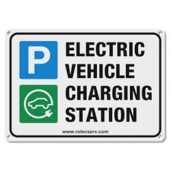 Rolec EVPS0020 Aluminium A5 EV Parking Sign