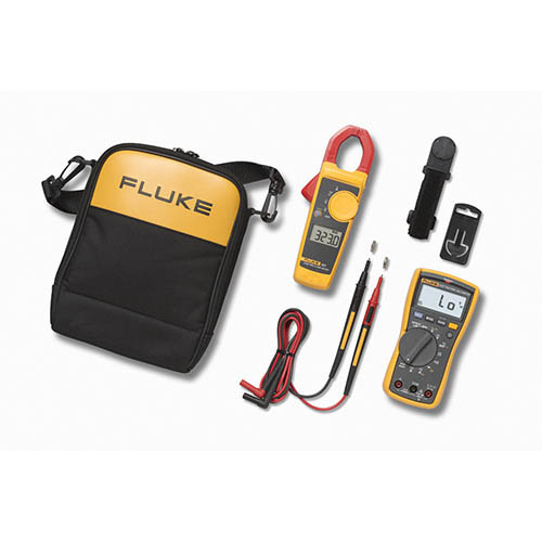 Fluke 117/323EUR Electricians Combo Kit Multimeter+Clamp Meter+Case