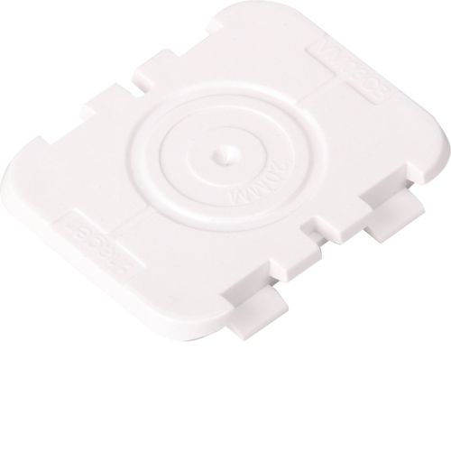 Hager VM03CB Top Wall Cable Protector Plate Closed(30mm x 40mm) Pack of 10