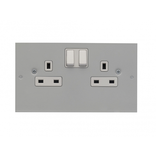 Britmac GB3SS2CE/BG 13amp 2gang Clean Earth switched socket