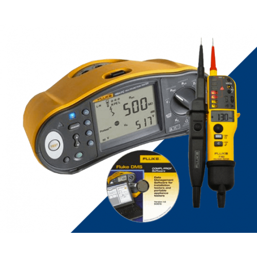 Fluke 1664FC UK-TPL KIT Multi Installation Tester + Free T150 Electrical Tester & Software