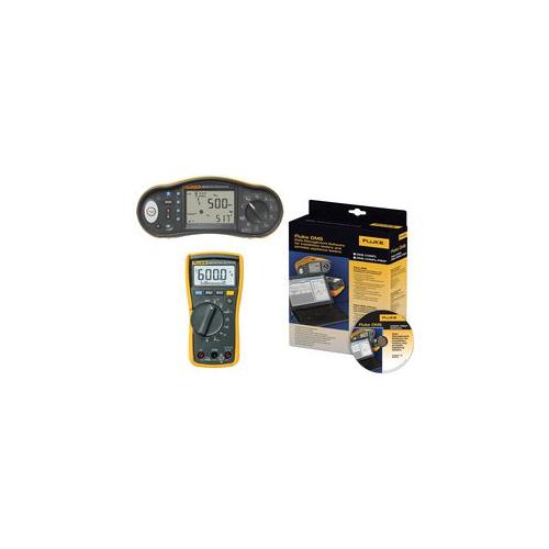 Fluke 1663 UK-DMM KIT Multi Installation Tester + Free 114 Digital Multimeter & Software