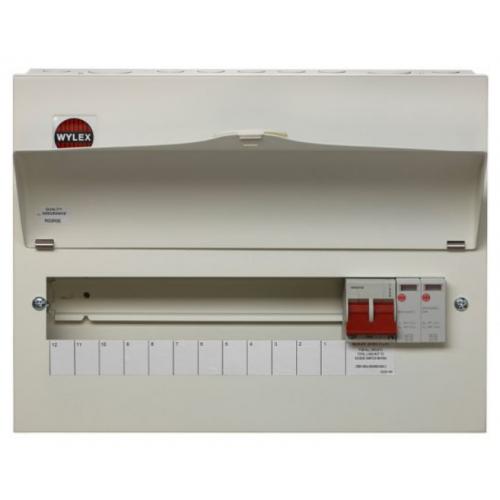 Wylex NM1206FLEXS 100a Main switch+Type 2 SPD 12 Way Consumer Unit