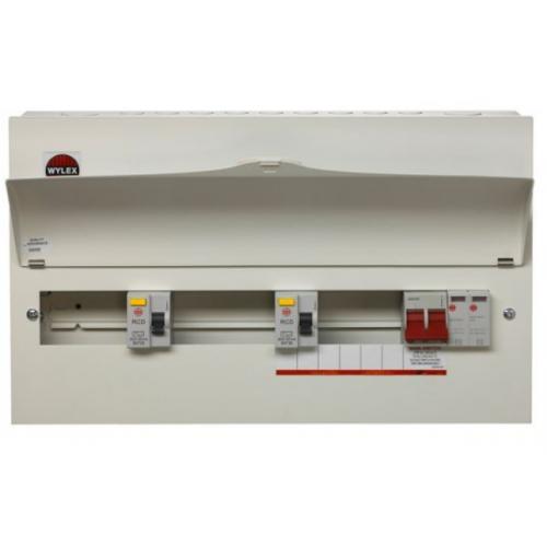 Wylex NMRS13SSLMHIS 13 Way High Integrity+Type 2 SPD Flexible Busbar Consumer Unit