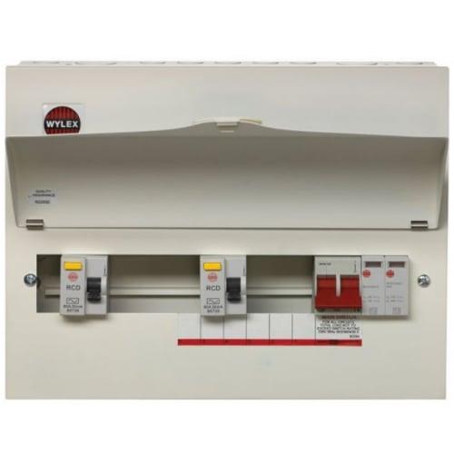Wylex NMRS8SSLMHIS 8 Way High Integrity+Type 2 SPD Flexible Busbar Consumer Unit