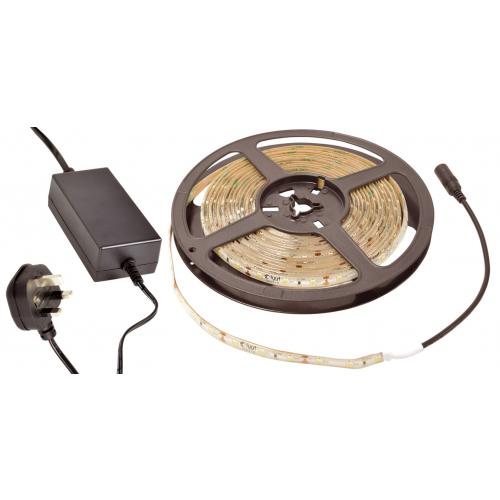AVSL 153.722UK Warm White 3100k LED IP65 12vdc 5m Tape Kit