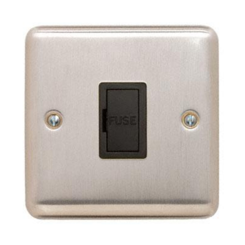Contactum REF3364BSB Reflect 13a Un-switched Spur Brushed Steel