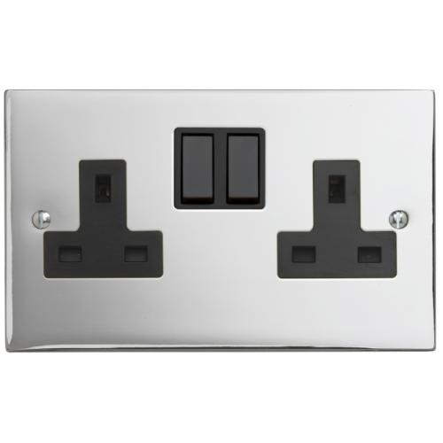 Contactum SIG3356PSB Signature 2g 13amp Switched Socket Polished Chrome