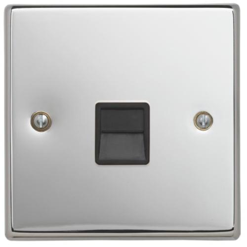 Contactum SIG3169PSB Signature Master Telephone Socket Polished Chrome
