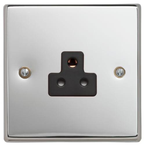 Contactum SIG3315PSB Signature 1gang 2amp Socket Polished Chrome