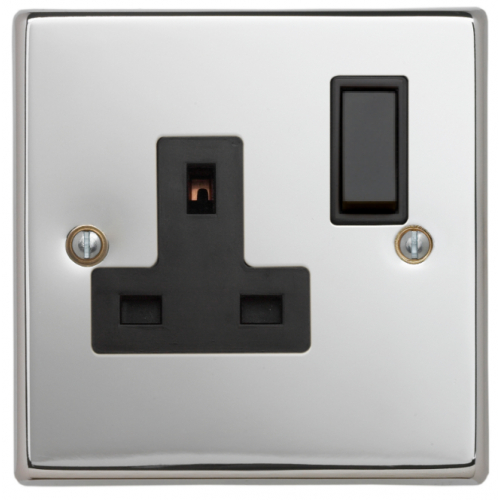 Contactum SIG3346PSB Signature 1g 13amp Switched Socket Polished Chrome