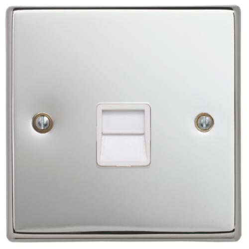 Contactum SIG3169PSW Signature Master Telephone Socket Polished Chrome