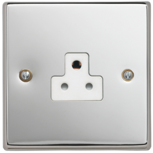 Contactum SIG3315PSW Signature 1gang 2amp Socket Polished Chrome