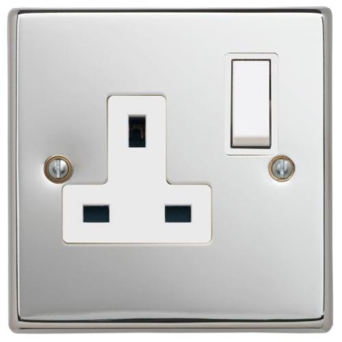 Contactum SIG3346PSW Signature 1g 13amp Switched Socket Polished Chrome
