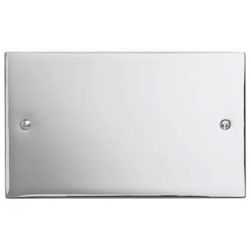 Contactum SIG3027PS Signature 2gang Polished Chrome Blank Plate