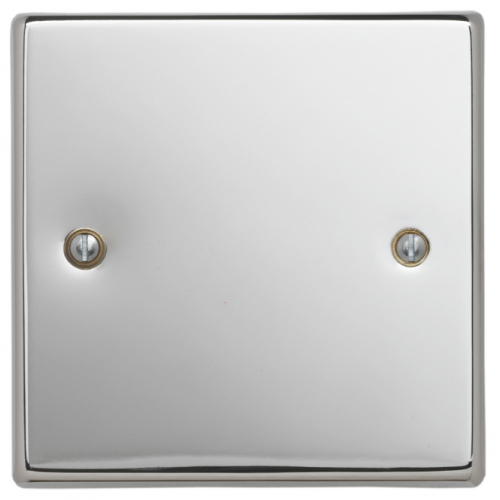 Contactum SIG3017PS Signature 1gang Polished Chrome Blank Plate