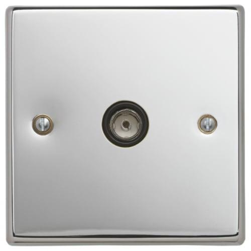 Contactum SIG3147PSB Signature 1g TV/FM Socket Polished Chrome