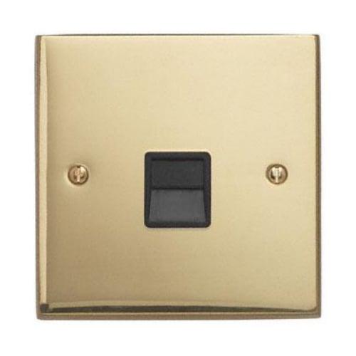 Contactum 3169EBB 1g Master BT Telephone Socket Edwardian Brass Socket