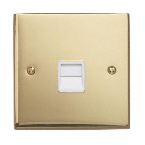 Contactum 3170EBW 1g Slave BT Telephone Socket Edwardian Brass Socket