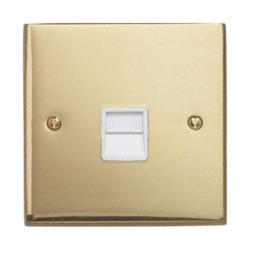 Contactum 3169EBW 1g Master BT Telephone Socket Edwardian Brass Socket