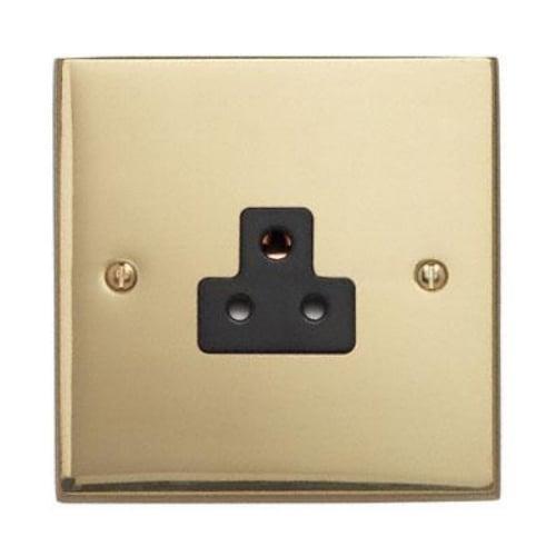 Contactum 3315EBB 1gang 2amp Edwardian Plain Brass Socket
