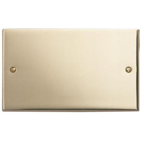 Contactum 3027EB 2g Edwardian Plain Polished Brass Blanking Plate