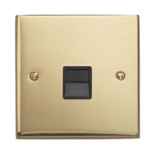 Contactum 3170EBB 1g Slave BT Telephone Socket Edwardian Brass Socket